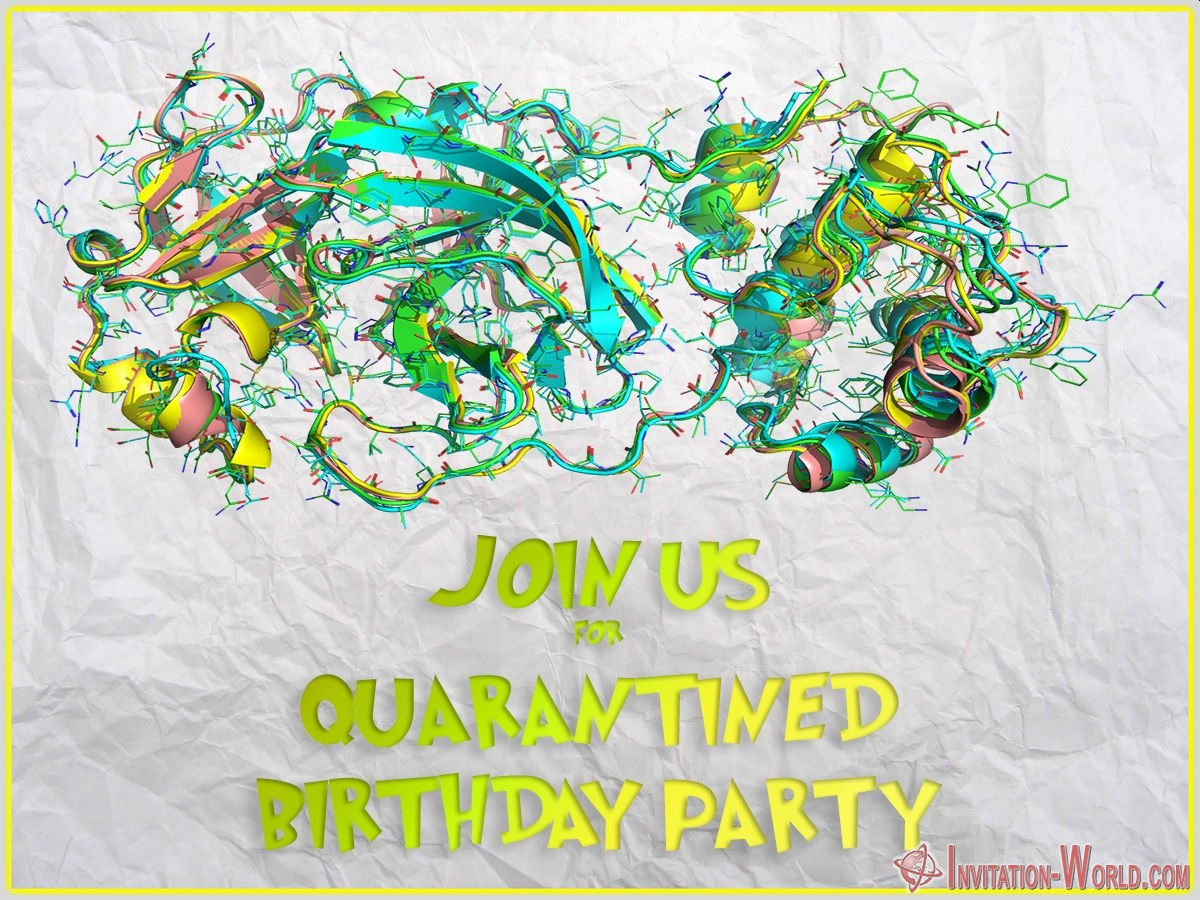 quarantined birthday party invitation