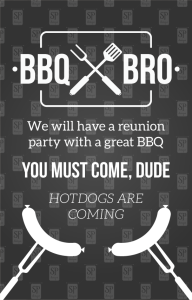 Black & White BBQ Invitation
