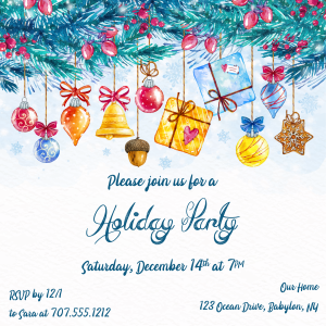 Holiday Party Online Invitations