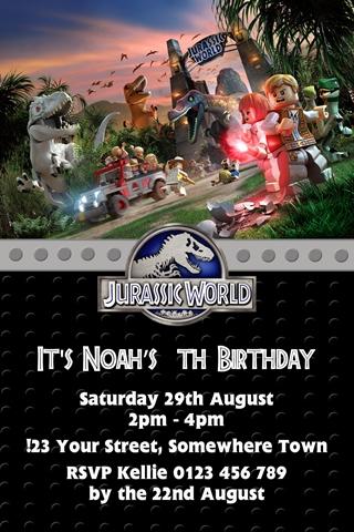 jurassic park world invites