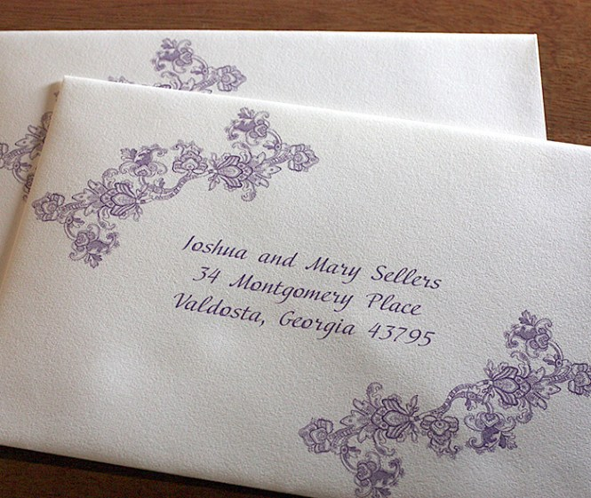 Wedding Invitation Envelope Addressing