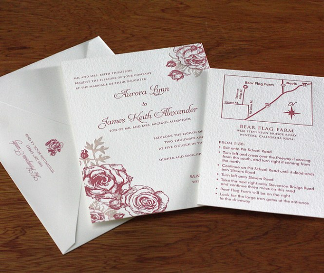 Rose Garden Wedding Invitations