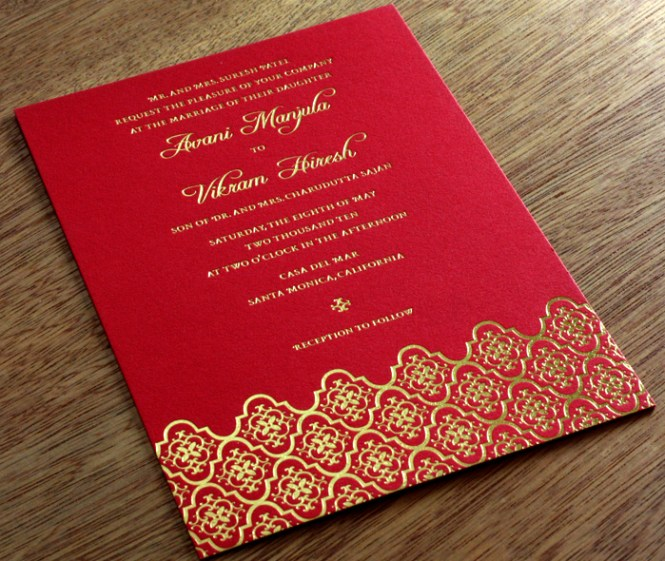 Indian Wedding Invitation Card Set