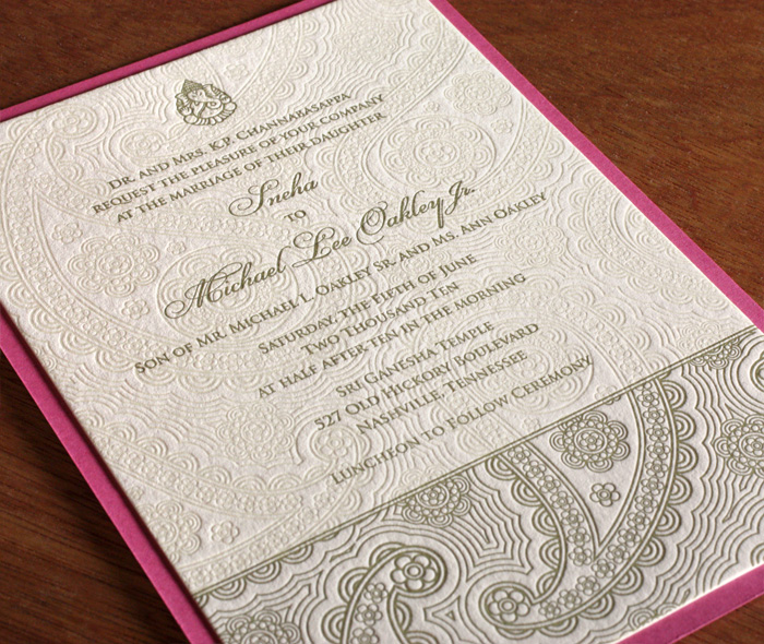 Devi Large Wedding Invitation Design