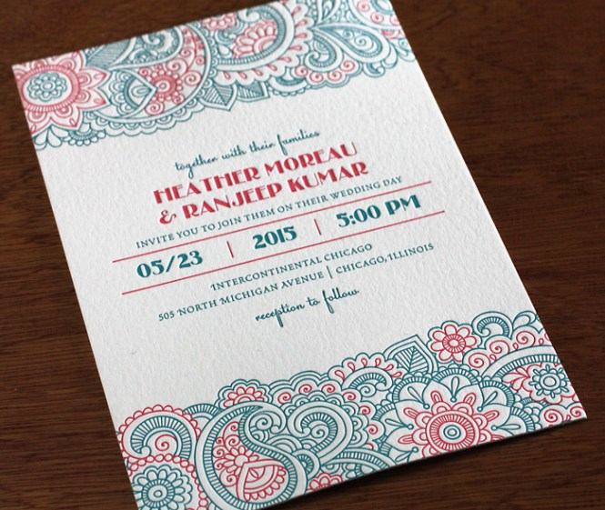 Indian Wedding Invitation Card Design Gallery Ranjeep