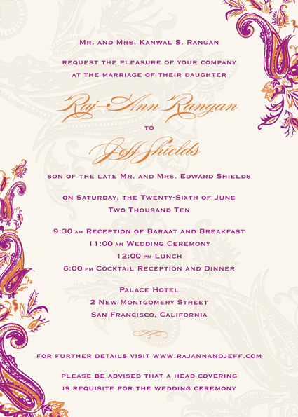How To Word Wedding Invitations From