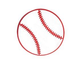 Invitaciones de béisbol. Hechas a mano.