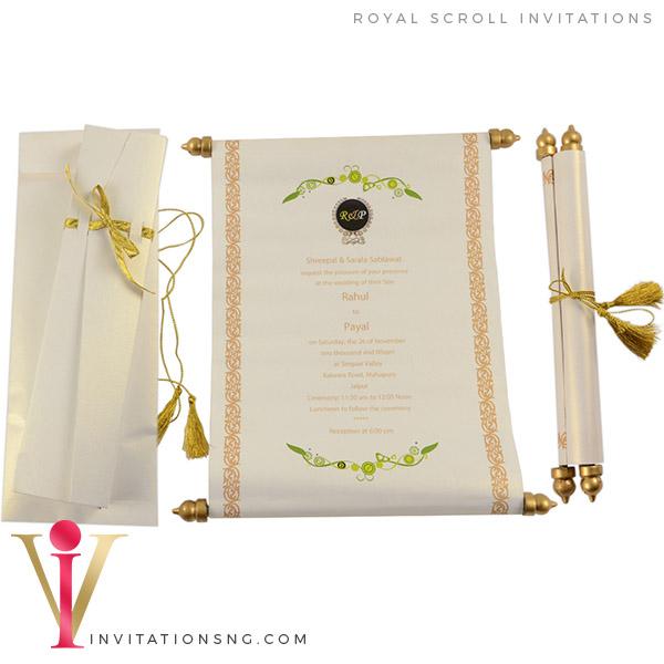 Scroll Invitation S1090 at invitationsng.com