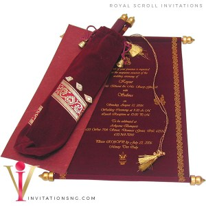 Exquisite Scroll Invitation S54 in Nigeria at invitationsng.com