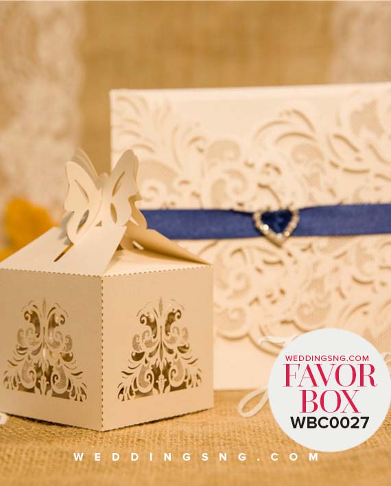 Charming Laser Cut Wedding Favor Boxes WBC0027