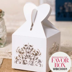 Pretty Wedding Favor Boxes WBC0001 for occasions and events at invitationcards.ng