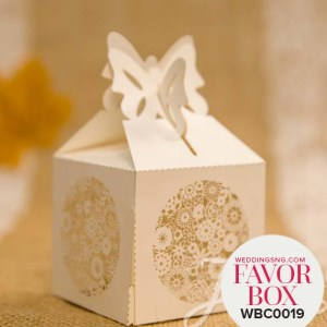 Romantic Floral Laser Cut Favor Boxes WBC0013 for occasions and events at invitationcards.ng