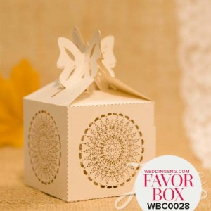 Rustic Semicircle Floral Laser Cut Wedding Favor Boxes WBC0028 for occasions and events at invitationcards.ng