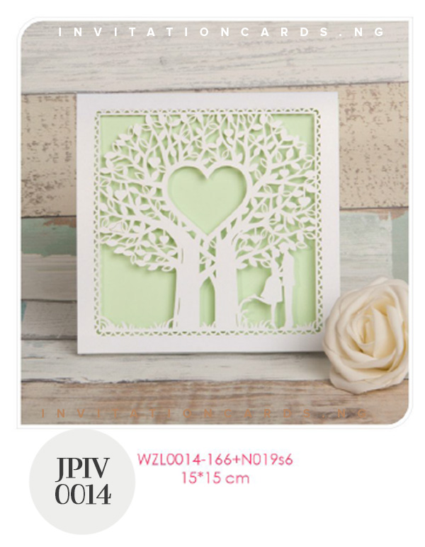 Fairytale Laser Cut Tree Wedding Invitation Wzl0014