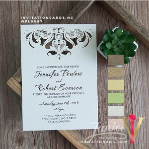 Flat Laser Cut Invitation Card WFL0097 is now available at invitationsng.com. Call 08173093902