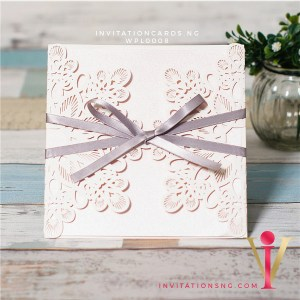 Floral Square Lace Invitation Card WPL008 is now available at invitationsng.com. Call 08173093902
