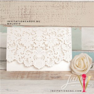Flat Laser Cut Invitation Card WPL0010 is now available at invitationsng.com. Call 08173093902