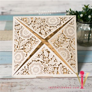 Floral Laser Cut Invitation Card WPL0015 is now available at invitationsng.com. Call 08173093902