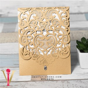 Brown Laser Cut Diamond Invitation Card WFL0075 is now available at invitationsng.com. Call 08173093902