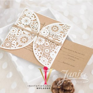 Floral Laser Cut Invitation Card WFL0080 is now available at invitationsng.com. Call 08173093902