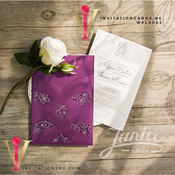 Luxurous Lace Invitation Card WPL0003 is now available at invitationsng.com. Call 08173093902