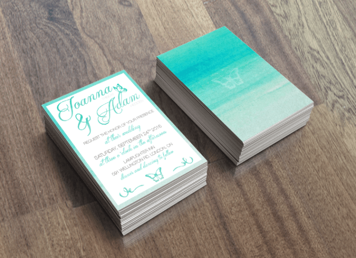 Teal Butterfly Wedding