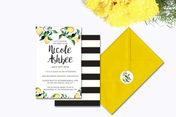 Lemon Striped Bridal Shower