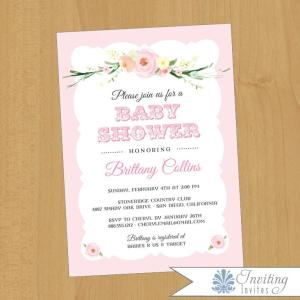 Charming Watercolor Flower_invite