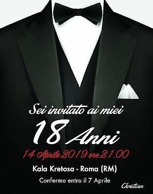 Inviti Compleanno 18 Anni Personalizzati Archives Invito