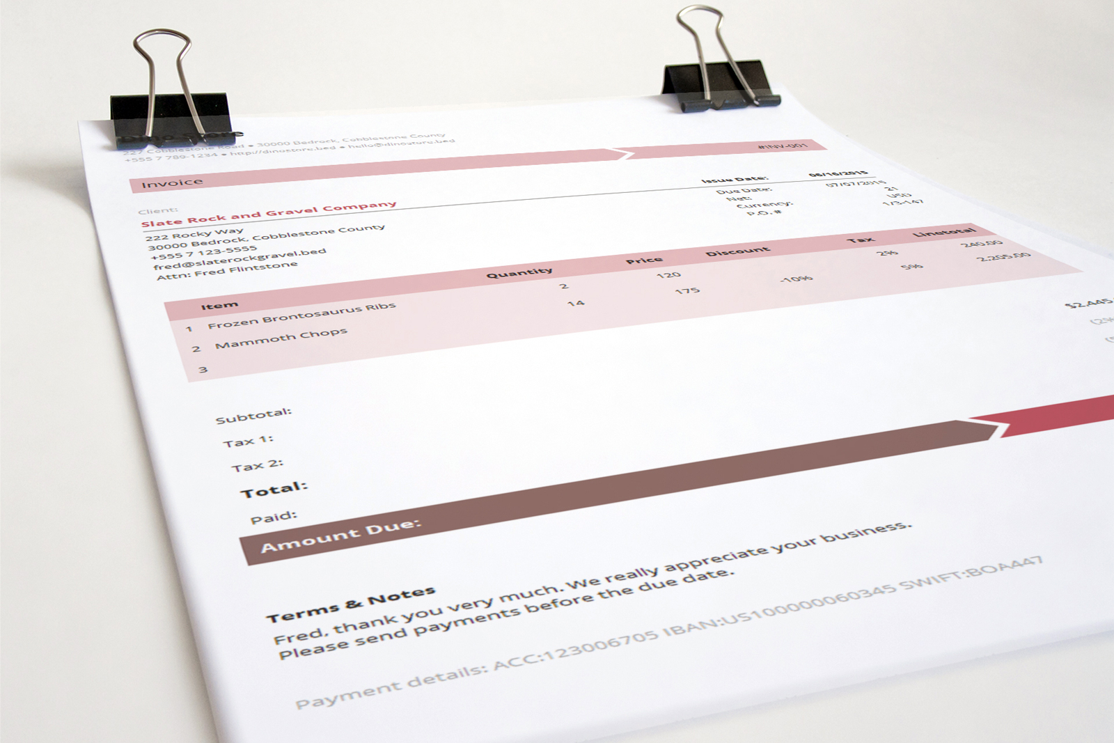 Business Invoice Template   Armo     and Business Invoice Template Armo