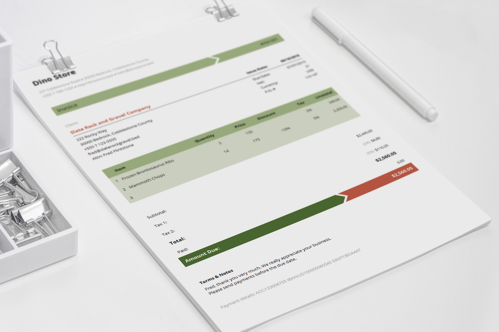 Business Invoice Template   Armo     and Armo is an easy to use invoice template with elegant  simple