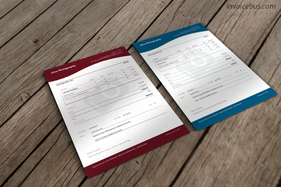 Photography Invoice Template   Jade     clever Specifically designed for professional photographers  Jade is  contemporary invoice template with elegant lines