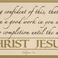 Sermon on Philippians 1:6