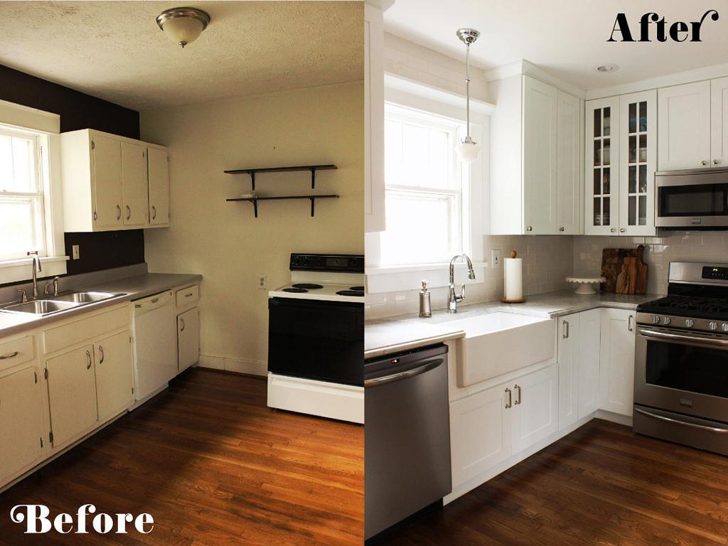 Small Kitchen Ideas On A Budget Before After Remodel
