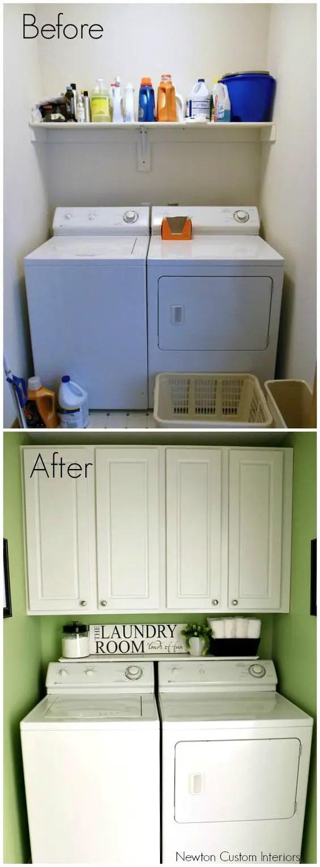 Tiny Laundry Room Ideas - Space Saving DIY Creative Ideas ... on Small Laundry Room Cabinets  id=42577