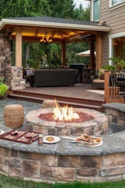 outdoor patio with fire pit designs Backyard Fire Pit Ideas and Designs for Your Yard, Deck or
