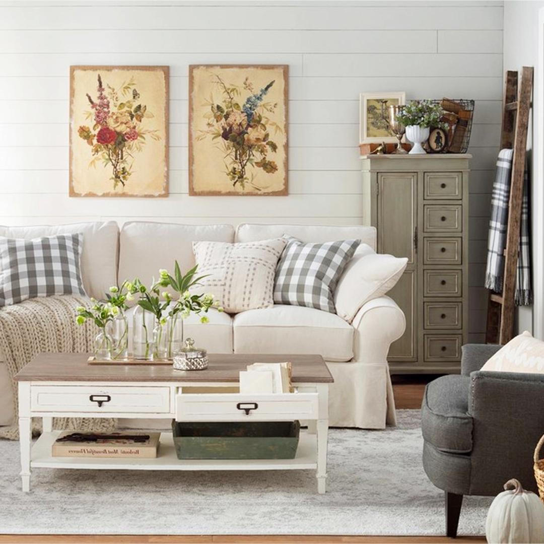 {Farmhouse Living Rooms} • Modern Farmhouse Living Room ... on Farmhouse Style Living Room Curtains  id=87820