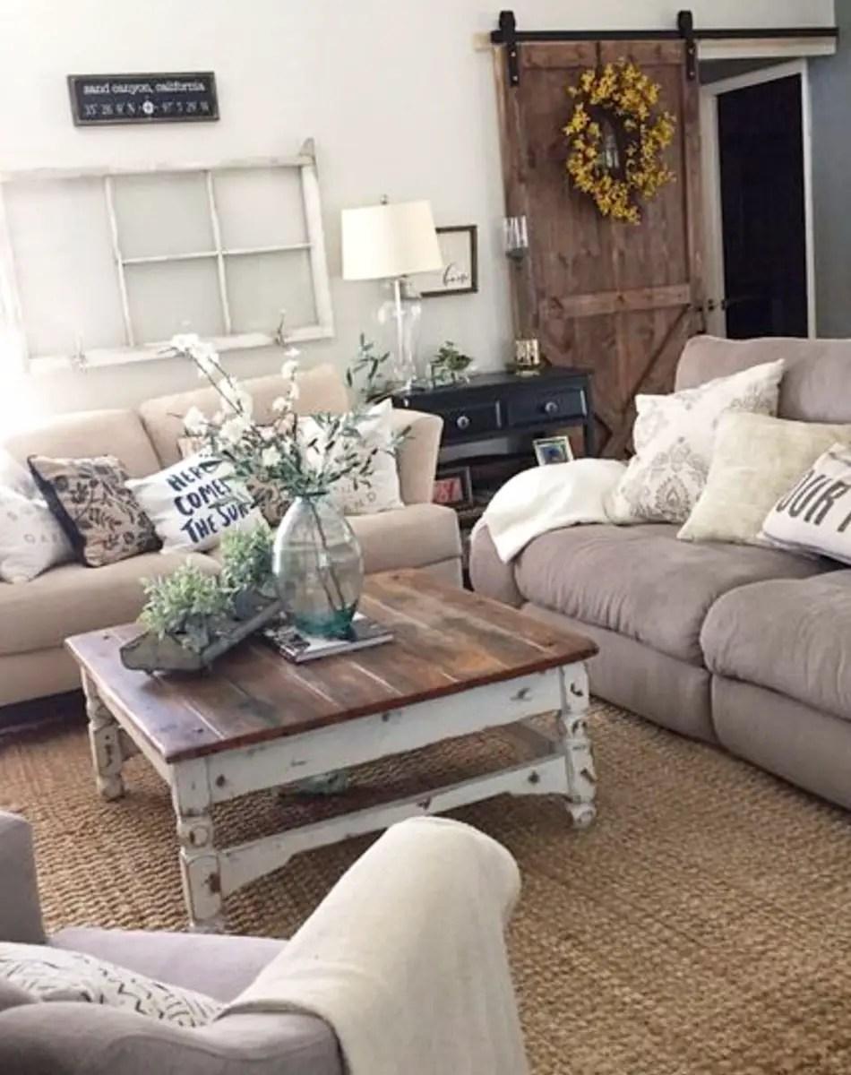 {Farmhouse Living Rooms} • Modern Farmhouse Living Room ... on Farmhouse Style Living Room Curtains  id=56897