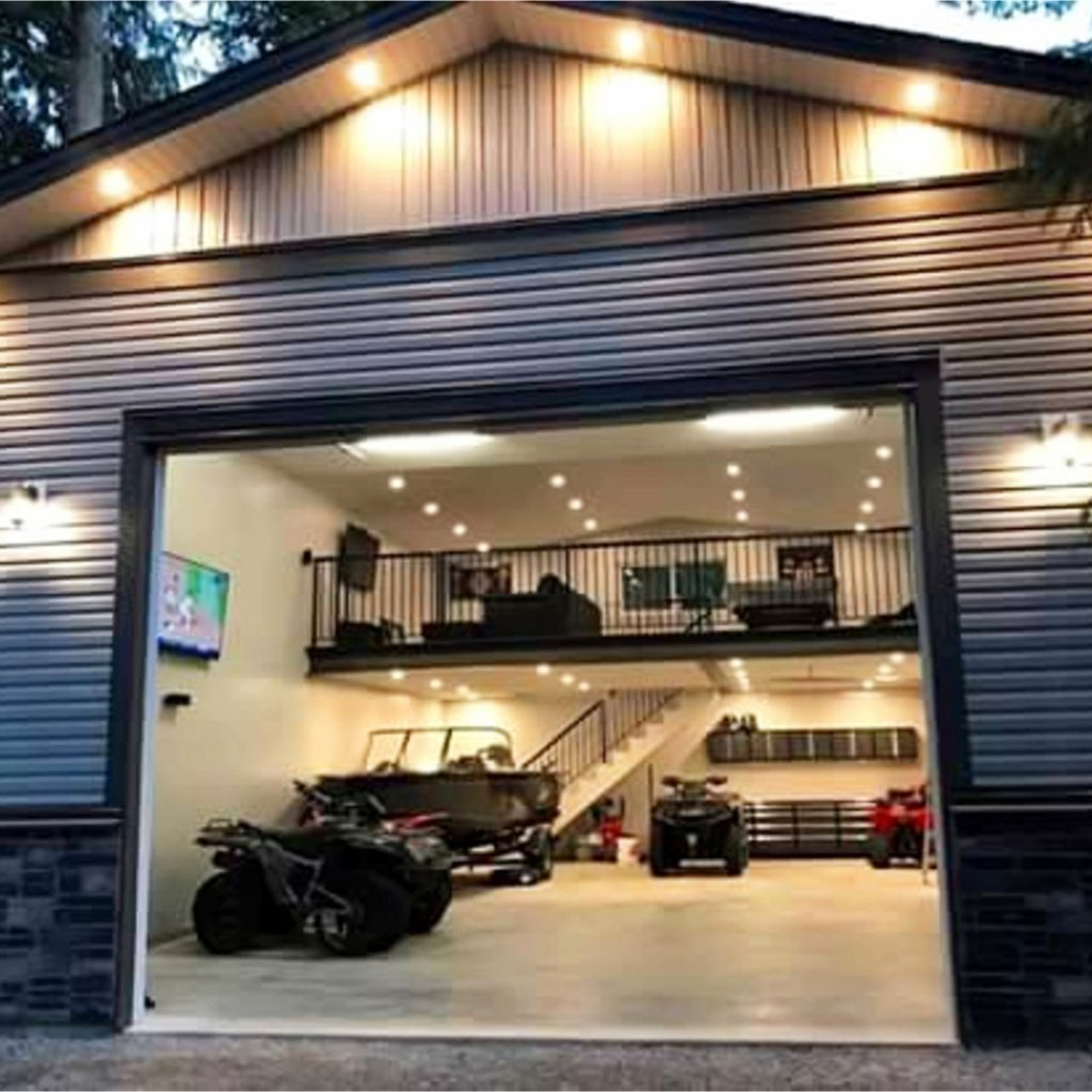 Garage Man Cave Ideas on a Budget   Easy DIY Ideas from Involvery Awesome Man Cave in this garage   goals  dreamhome