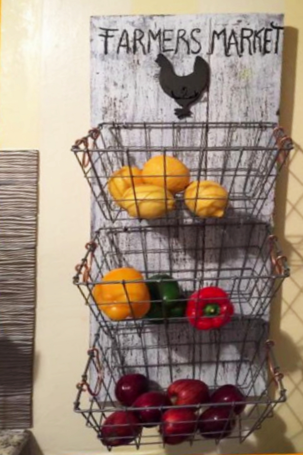 DIY Hanging Fruit Basket Ideas And PICTURES Unique And Easy Wall Mounted Fruit Baskets Involvery