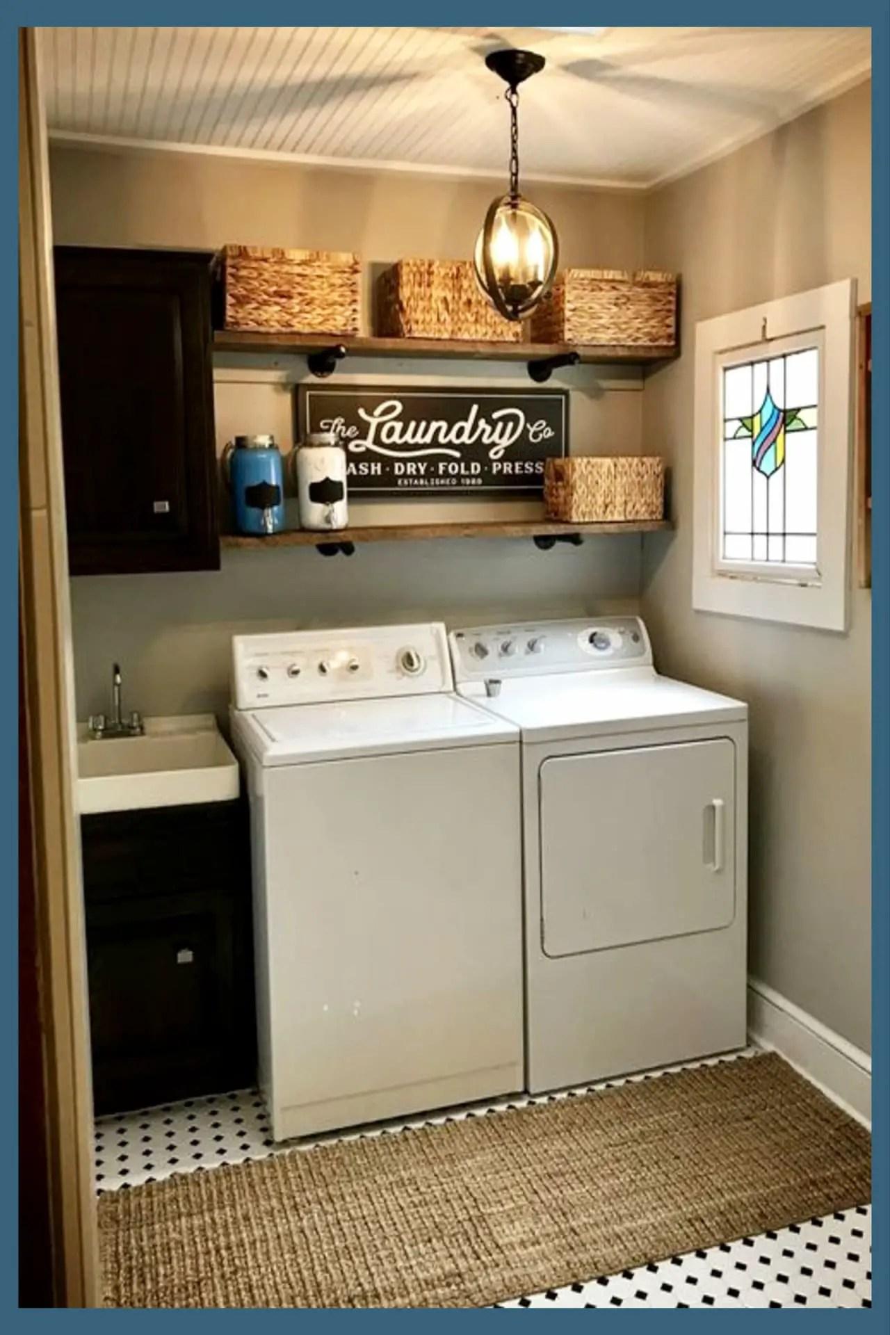 Small Laundry Room Ideas - Space Saving Ideas for Tiny ... on Small Laundry Room Organization Ideas  id=58318