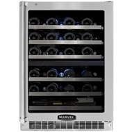 Marvel MPRO6DZE-BS-LL 24-Inch Professional Dual Zone Wine Cellar with SS Frame Glass Left Hinge Door