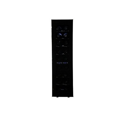 Haier 18-Bottle Dual Zone Curved Door with Smoked Glass Wine Cellar