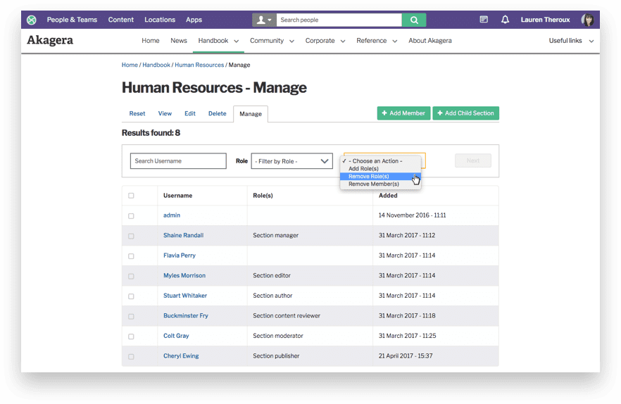 Distributed publishing options screenshot