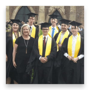Invotra apprentices at their graduation ceremony