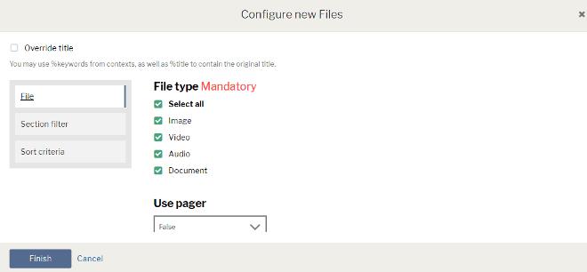 New files widget
