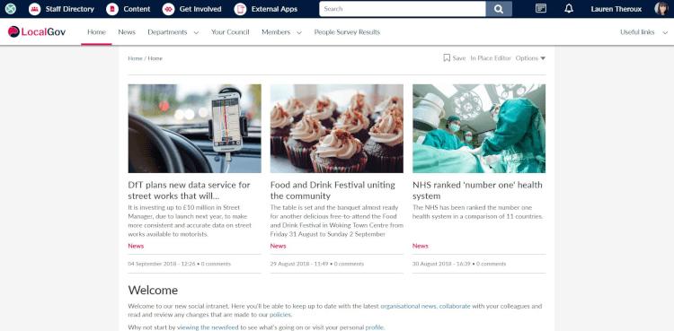 LocalGov homepage
