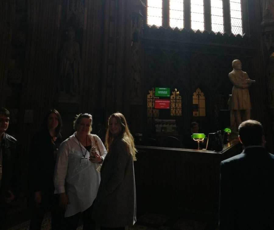 The invotra team in the house of commons