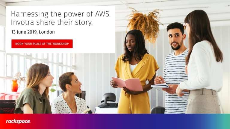 Harnessing the power of AWS Invotra share their story. 13th June 2019, London. Book your place at the workshop button