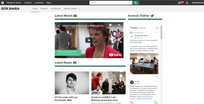 GOV.invotra homepage